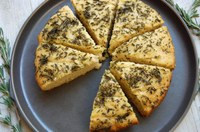 This rosemary foccacia bread is best made using fresh herbs, but dried herbs can be substituted. (NDSU Photo)