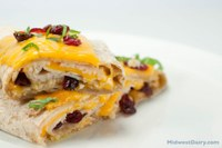 This cranberry turkey wrap is a good way to use leftover turkey. (Photo courtesy of Midwest Dairy Council)