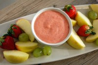 This is a tasty fruit dip that kids can help prepare. (NDSU photo)