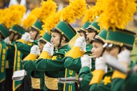 NDSU's Gold Star Marching Band gets students in the mood for fall classes. (NDSU photo)
