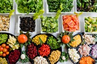 A salad bar can be as simple or elaborate as you would like. (Photo courtesy of Pixabay)