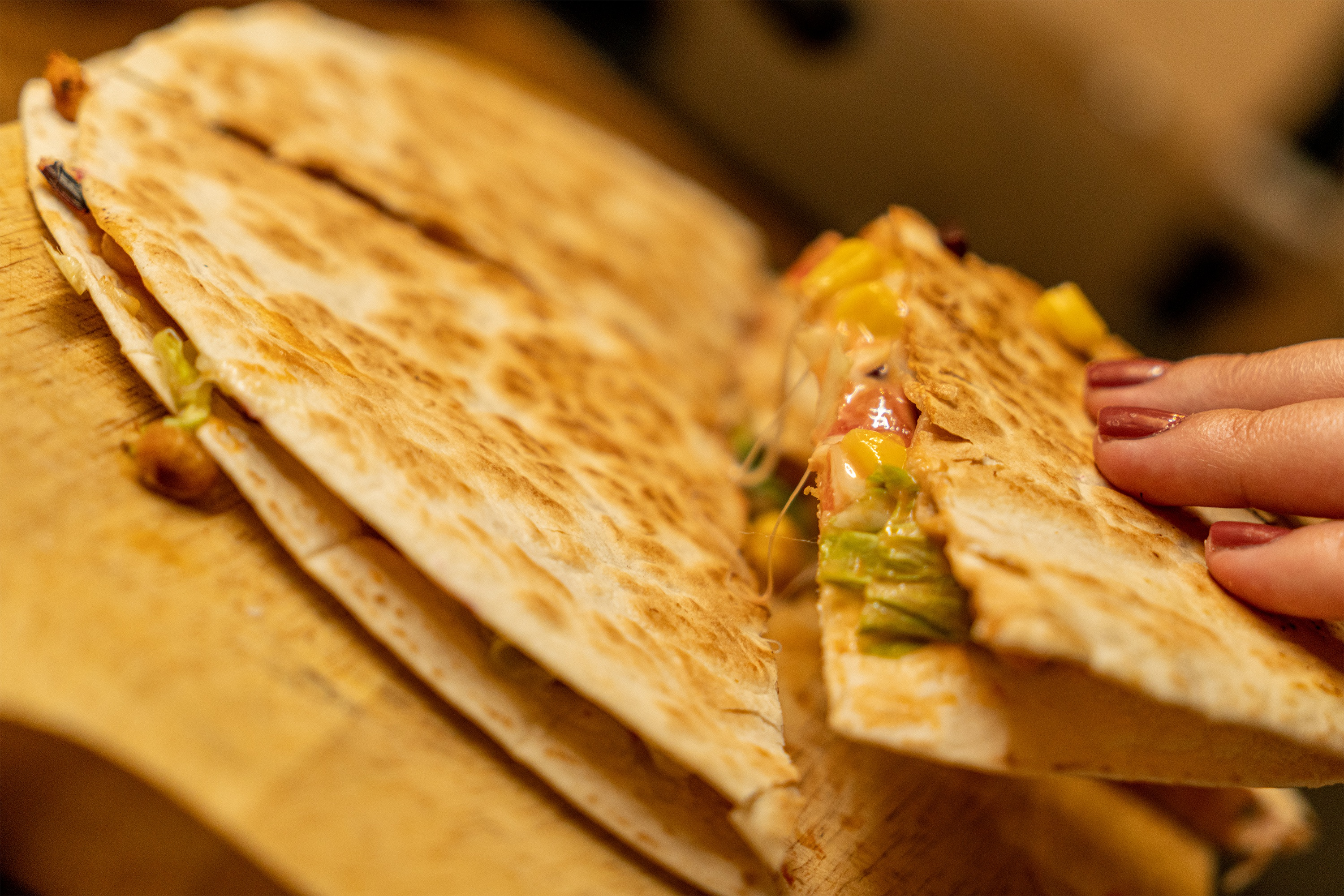 A quesadilla is a tasty way to create something new from leftovers.  (Photo courtesy of Pixabay)