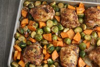 This delicious one-pan meal features Brussels sprouts. (NDSU photo)