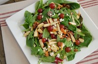 This salad has plenty of vegetables and fruit, along with nuts and cheese, to help you meet your daily recommendations for fruits and vegetables. (NDSU photo)