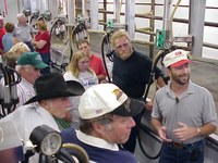 Producers tour a dairy operation near Richardton as part of NDSU Extension's efforts to retain and expand North Dakota dairies and attract dairies to the state.