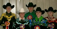 Members of NDSU's horse show team show off their ribbons from regional competition in River Falls, Wis. The team members are, from left: Chelsea Sazama, Janelle Lanoue, Jordan Schultz, Shannon Voges and Jackie Eldredge.