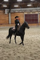 NDSU western equestrian team member Ashley Lindell competes in an open horsemanship event.