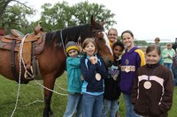 Youth learn all about horses at the Wish I Had a Horse camp at the North Dakota 4-H Camp near Washburn.