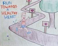 """Evan Sayler of Bismarck earns third place in the teen division of the 2014 """"""""Eat Smart. Play Hard."""""""" poster contest with this poster."""