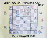 """This poster by Kolton Harvey, Minot, takes second place in the preteen division of the 2014 """"""""Eat Smart. Play Hard."""""""" poster contest."""