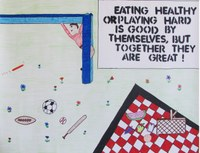 """This poster wins Madison Harvey, Minot, second place in the teen division of the 2014 """"""""Eat Smart. Play Hard."""""""" poster contest."""