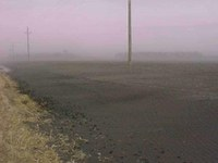 Dust storm northern Red River Valley about 2005. Image courtesy of A.C.  Cattanach, American Crystal Sugar Cooperative.
