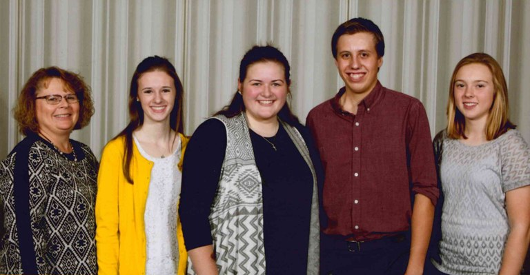 Four North Dakota youth attend the 2016 National 4-H Congress in Atlanta, Ga. Pictured are (from left): Cindy Olson, chaperone; and delegates Avery Breiland, Cass County; Alexius Thorpe, Dickey County; Isaac Joerger, Grand Forks County; and Marit Wang, Benson and Ramsey counties.