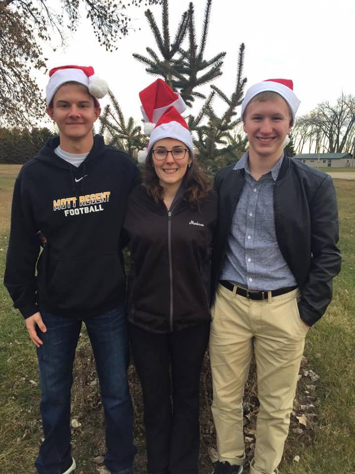 Theodore Mayer (left), Marissa Tuhy and Tobias Zikmund have joined the North Dakota 4-H Ambassadors team. (NDSU photo)