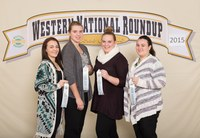 The Barnes County team places 10th in the Horse Bowl at the Western National Roundup in Denver, Colo. Pictured are team members (from left): Makenna Knight, Brooke McDonald, Sam Bergrud and Mickaella Langer. (Photo courtesy of Western National Roundup)