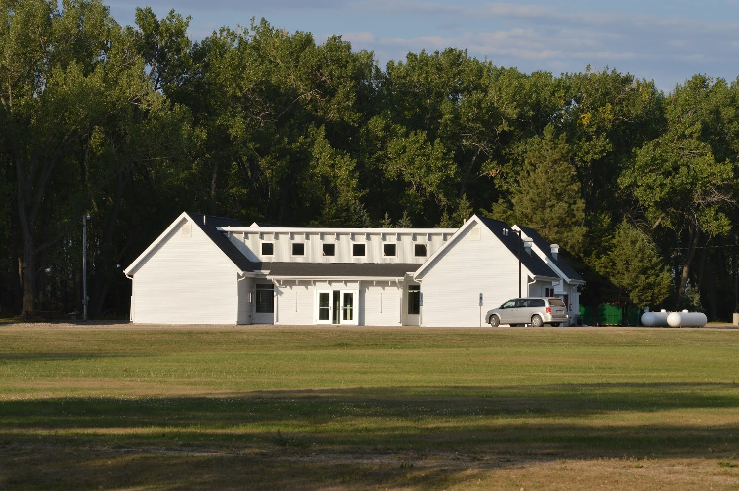The new Johnsrud 4-H Education Center is used for camp registration and large-group activities. It's also a place to hold activities in bad weather. (NDSU photo)