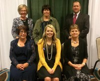 NDSU Extension Service agents who received awards at the National Association of Extension 4-H Agents conference were: (front row from left) Jackie Buckley, Acacia Stuckle and Marcia Hellandsaas, (back row from left) Deb Lee, Macine Lukach and Brian Zimprich. (NDSU photo)