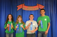 The Cass County team of (from left) Linnea Axtman, Maddie Robinson, Damon Magney and Sam Radermacker took first place in the junior division of the consumer choices contest held during the North Dakota State Fair. (NDSU photo)
