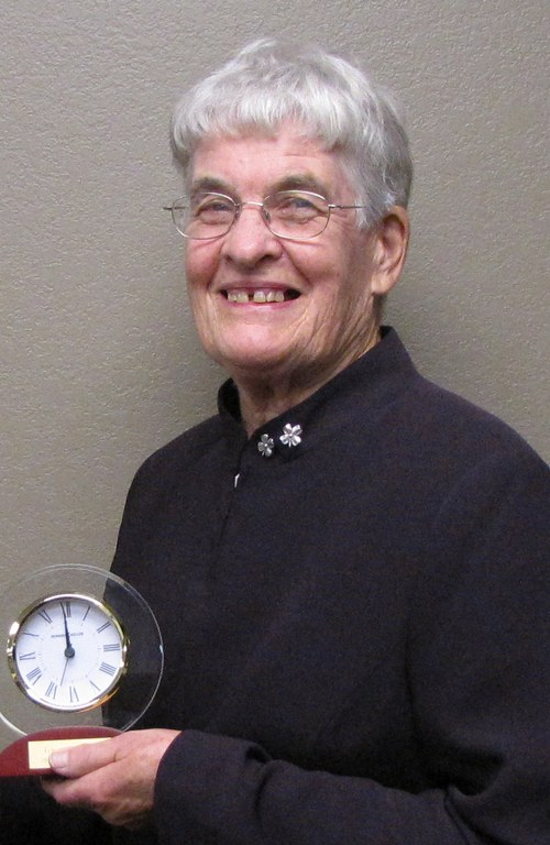 Gwen Roffler of Grassy Butte is inducted into the North Dakota 4-H Hall of Fame. (NDSU photo)