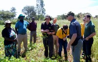 NDSU Extension specialists and Plant Sciences research specialists and students visit Zimbabwe's International Maize and Wheat Improvement Center during a study tour of research and Extension activities. (NDSU photo)