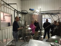 RLND's Class VII visits Bessy's Best, a dairy near Sterling, during a seminar. (NDSU photo)