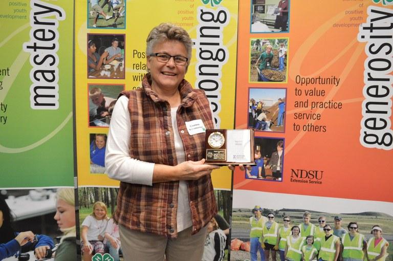 Coreen Schumacher of Venturia is North Dakota's 2017 Outstanding Lifetime 4-H Volunteer Award recipient. (NDSU photo)