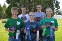 Foster County's senior 4-H range judging team will represent North Dakota in national competition in Oklahoma in 2018. Team members are, from left, front row, Adam Gorseth, Beth Lee and Chayla Kuss, and back row, Tyler Lee and Mathias Kubal. (NDSU photo)