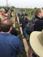 RLND's class VII visits the Song Phuong Vegetable Village about 30 minutes from Hanoi, Vietnam. The class is learning about the village's irrigation system. (NDSU photo)
