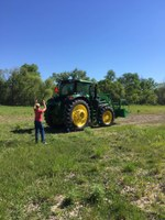 Youth learn how to operate farm equipment during an NDSU Extension tractor safety school. (NDSU photo)