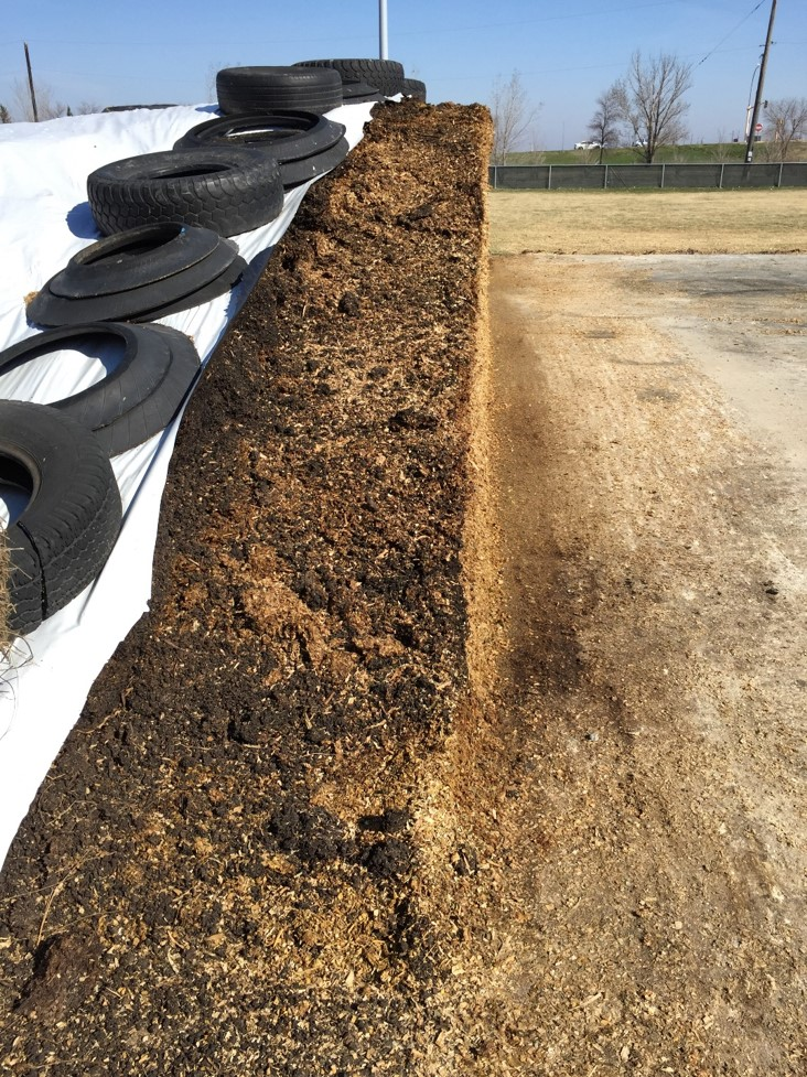 This silage pile at NDSU's Beef Cattle Research Center has been managed properly. (NDSU photo)