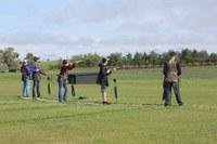 4-H'ers take aim at the North Dakota 4-H Shooting Sports State Shotgun Match. (NDSU photo)