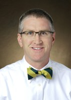 Todd West receives the William J. and Angelyn A. Austin Excellence in Advising Award. (NDSU photo)