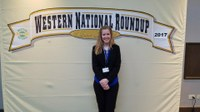 Victoria Christensen took sixth place in horse public speaking at the Western National Roundup. (Photo courtesy of Western National Roundup)
