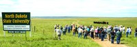 Visitors learn about research at the Central Grasslands Research Extension Center during a field day. (NDSU photo)