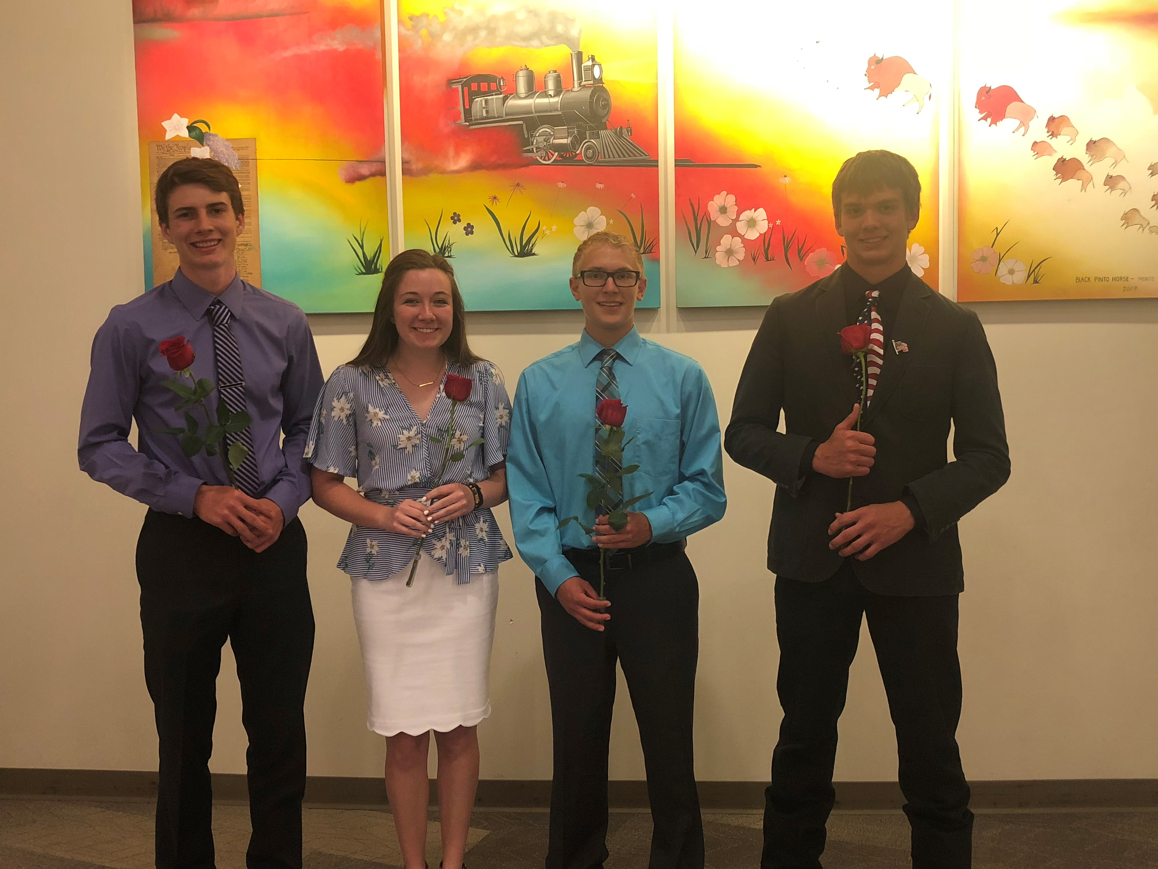 Four youth join the North Dakota 4-H Ambassador program. The new Ambassadors are (from left): Lucas Subart, Sophie Lind, Jacob Arnold and Mitch Stuber. (NDSU photo)