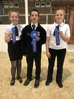 The Morton County team took first place in the senior division of the North Dakota 4-H Dairy Judging Contest. Pictured are (from left): Samantha Johnson, Justin Johnson and Fayth Hoger. (NDSU photo)