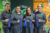 A team from Sargent County placed first in the horse quiz bowl competition. Pictured are (from left): Allie Bopp, Jacy Bopp, Kassidy Larson, Kari Fuhrman.