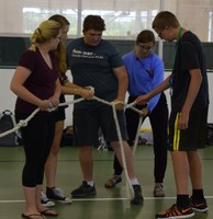 Extension Youth Conference ropes activity (NDSU Photo)