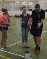 Extension Youth Conference teamwork activity (NDSU Photo)
