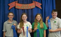 1st Place Junior Team – Cass County Pictured left to right: Elsa Axtman, Nora Severance, McKenna Mohs and Christian Thoreson (NDSU Photo)