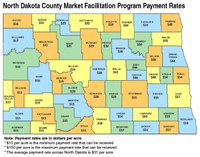 North Dakota County Market Facilitation Program Payment Rates