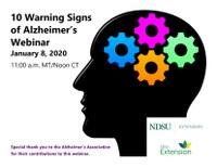 NDSU Extension 10 Warning Signs of Alzheimer's Webinar