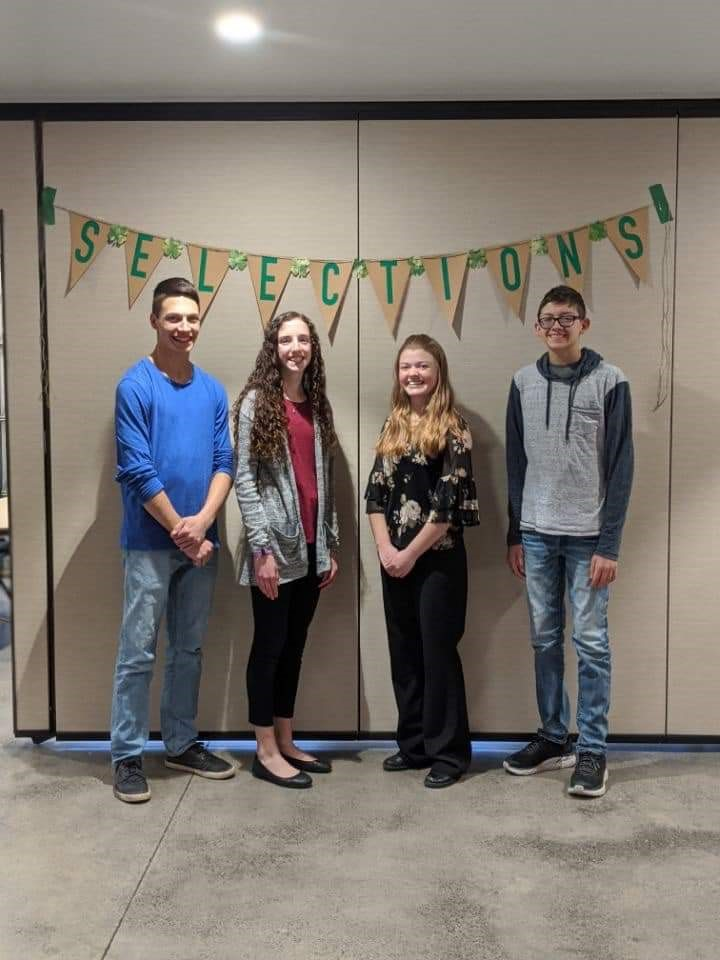 Four youth have become North Dakota 4-H Ambassadors. They are (from left) Christopher Becker, Linnea Axtman, Rachel Larson and Jake Doll. (NDSU photo)