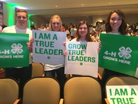 Donations to the North Dakota 4-H Foundation help youth participate in activities such as leadership development at the national level. (NDSU photo)