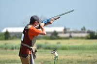Zach Ohma from Ramsey County takes a shot in a shotgun event at the 2019 4-H National Championships in Grand Island, Neb. (NDSU photo)
