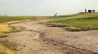 This is the site of a brine spill in northwestern North Dakota. (NDSU photo)