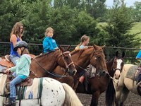 Youth participate in a rodeo clinic an RLND participant developed. (Photo courtesy of Shanda Morgan, Bismarck, N.D.)
