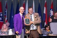 Brad Brummond, right, is named to the National Association of County Agricultural Agents' Hall of Fame. (NDSU photo)