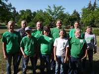 The Foster County team takes first in the junior division of the state 4-H land judging contest. Pictured are (front row from left) Brekka Kuss, Maddyx Davis, Kenleigh Hinrichs, Cyrena Kuss and Cally Hansen and (back row from left) Ashley Lindberg, Abby Lee, Molly Hansen, London Davis and Kelsey Johnson. (NDSU photo)