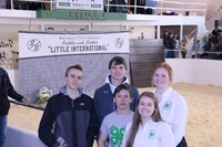The Grand Forks County team took first place in the senior division of the Little I 4-H crop judging contest. Pictured are, from left, front row: Emily McHugo; middle row: Joseph Vandal; back row: Evan Coles, Ryan Juve and Jennifer Schneibel. (NDSU photo)